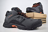 Зимние мужские кроссовки Adidas Climaproof высокие серые 41-45рр. Живое фото. Реплика, фото 4