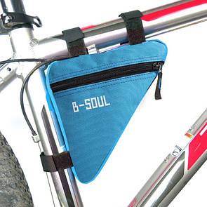 Велосумка подрамная сумка на велосипед. Велосипедная сумка  (ZACRO,B-SOUL) голубая