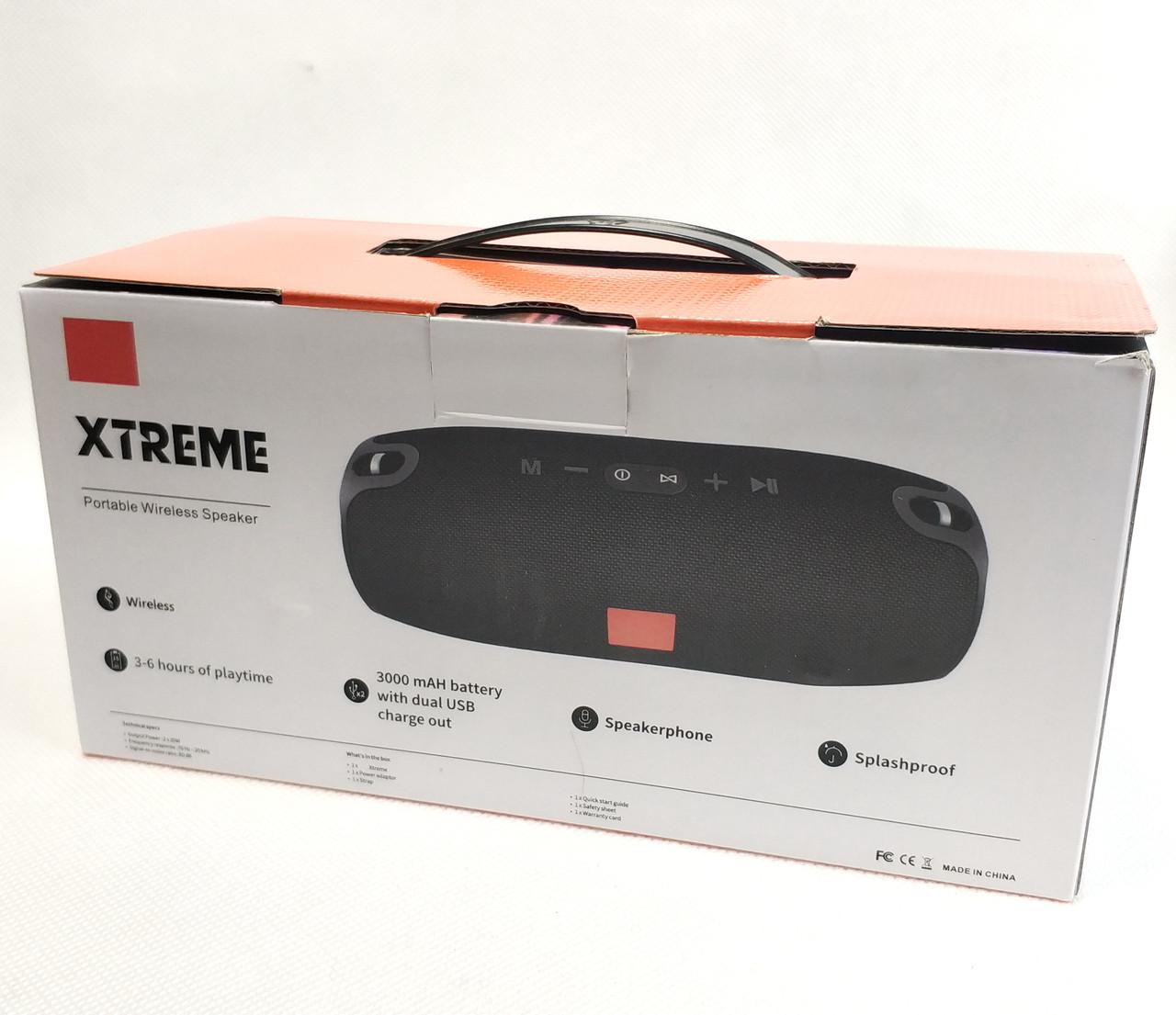 Коробка от Портативная блютуз колонка акустика bluetooth для телефона с флешкой