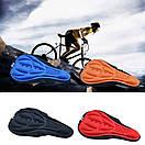 Велосипедный чехол силиконовый, накладка на седло подушка чохол на сідло седушку. черная, фото 9