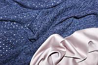 Синий. Ангора тонкая, люрексовая нить, дырочки, фото 1