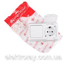 ElectroHouse Блок выключатель и розетка с заземлением Hummer IP54 EH-HM-39