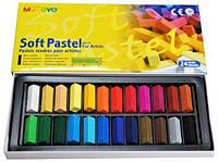 Пастель суха, професіональна, 1/2 м'яка, 24 кольори, квадратна, MPS-24, MUNGYO