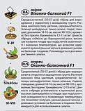 """Насіння огірка """"Віконно-балконний"""" F1 (0,25 г) від Agromaksi seeds, фото 2"""