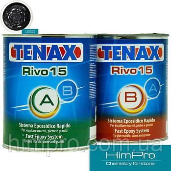 RIVO15 Black 2kg Tenax Эпоксидный черный клей густой