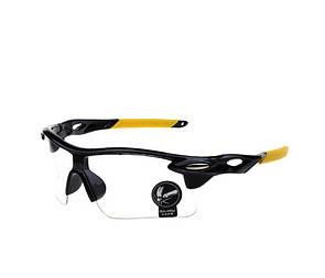 Очки спортивные Robesbon велосипедные (велоочки) прозрачный