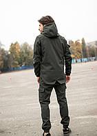 Куртка + штаны + БАФ в подарок / Комплект демисезонный осенний весенний мужской Khaki