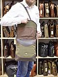 Мужская сумка через плечо из кожи и канвас RH-18072-4lx TARWA, фото 10