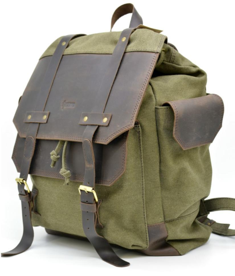 Рюкзак міський Урбан в комбінації тканина+шкіра TARWA RН-6680-4lx