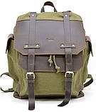 Рюкзак міський Урбан в комбінації тканина+шкіра TARWA RН-6680-4lx, фото 2