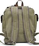 Рюкзак міський Урбан в комбінації тканина+шкіра TARWA RН-6680-4lx, фото 3