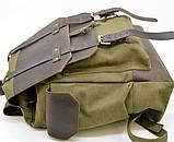 Рюкзак міський Урбан в комбінації тканина+шкіра TARWA RН-6680-4lx, фото 7