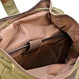 Рюкзак міський Урбан в комбінації тканина+шкіра TARWA RН-6680-4lx, фото 9