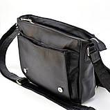 Чоловіча шкіряна сумка через плече з ручкою, підкладка - шкіра TARWA, GA-6046-1md, фото 5