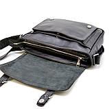 Чоловіча шкіряна сумка через плече з ручкою, підкладка - шкіра TARWA, GA-6046-1md, фото 7
