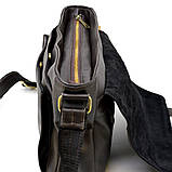 Мужская кожаная сумка через плечо из телячьей кожи TARWA, GC-6046-2md, фото 7