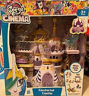 Игровой набор Замок Кантерлот My Little Pony Май литтл пони LL01 король Шторм, принцесса Селестия, аналог