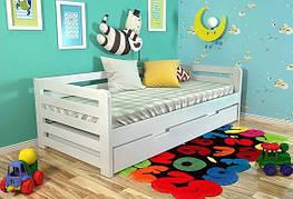 Дитяче ліжко Арбор Древ Немо 80х190 сосна (NS80) Білий (структура дерева не проглядається)