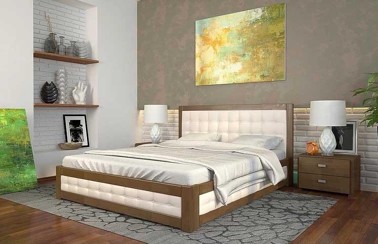 Двоспальне ліжко Арбор Древ Рената М з підйомним механізмом 180х200 сосна (RMS180)