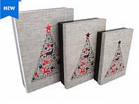 """Набор больших подарочных коробок """"Рождественское дерево"""""""