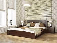 Двоспальне ліжко Естелла Селена Аурі з підйомним механізмом 140х200 буковий масив (DV-22), фото 2