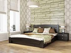 Двоспальне ліжко Естелла Селена Аурі з підйомним механізмом 140х200 буковий масив (DV-22), фото 3