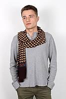 Мужские шарфы Мужской шарф Кастор коричнево-капучиновый 160*30 (SHM-02)