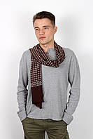 Мужские шарфы Мужской шарф Кастор темно-коричневый 160*30 (SHM-02)