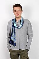 Мужские шарфы Мужской шарф Полукс синий 166*67 (SHM-01)