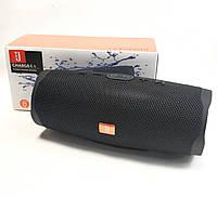 Портативная bluetooth колонка блютуз акустика для телефона с флешкой повербанк черная CHARGE4+