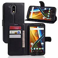 Чехол-книжка Litchie Wallet для Motorola Moto G4 XT1622 / Moto G4 Plus XT1642 Черный