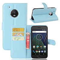 Чехол-книжка Litchie Wallet для Motorola Moto G5 XT1676 Голубой