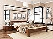 Односпальне ліжко Естелла Рената 80х190 буковий масив (OL-22), фото 3