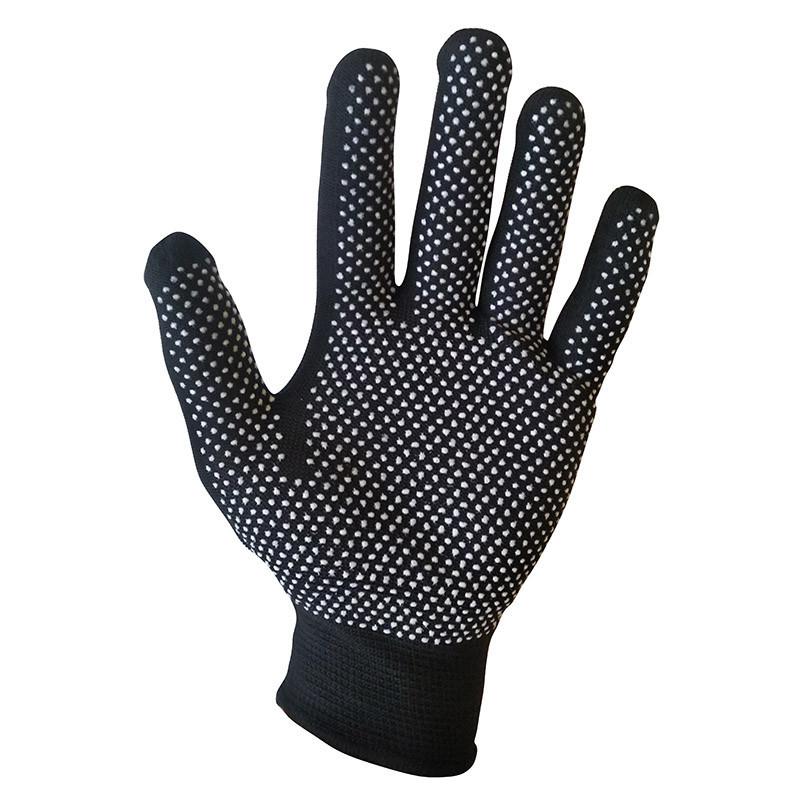 Перчатки рабочие с ПВХ покрытием в виде точки, черные