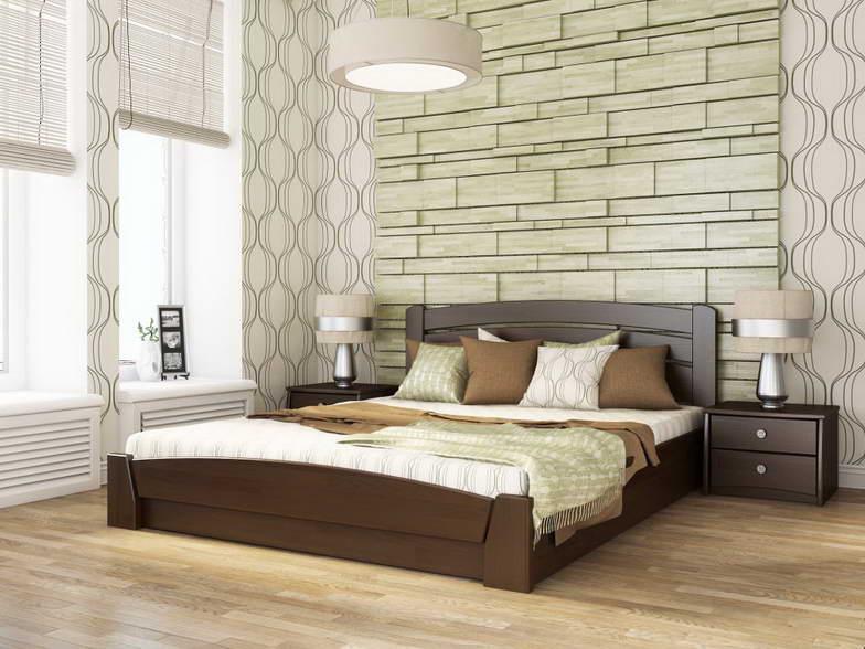 Двоспальне ліжко Естелла Селена Аурі з підйомним механізмом 120х200 буковий масив (DV-26)