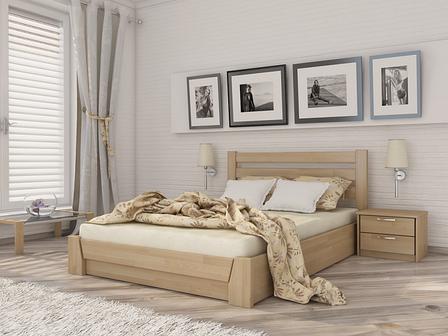 Двоспальне ліжко Естелла Селена з підйомним механізмом 120х200 буковий щит (LP-01), фото 2