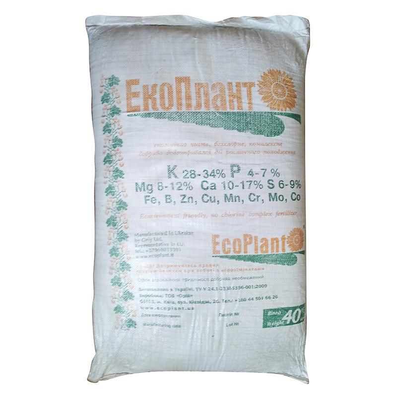 """Экологичное комплексное удобрение """"Экоплант"""" для овощных, плодовых, декоративных и хвойных культур (40 кг)"""