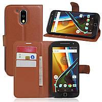 Чехол-книжка Litchie Wallet для Motorola Moto G4 XT1622 / Moto G4 Plus XT1642 Коричневый
