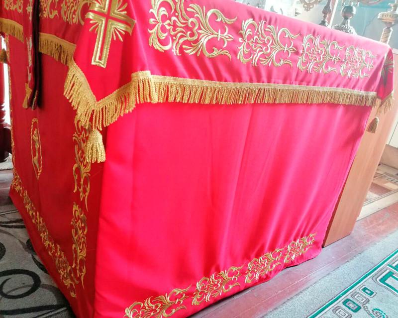 Чехол 1*1м из ткани с вышивкой