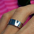 Серебряное брендовое кольцо - Стильное серебряное кольцо унисекс, фото 5