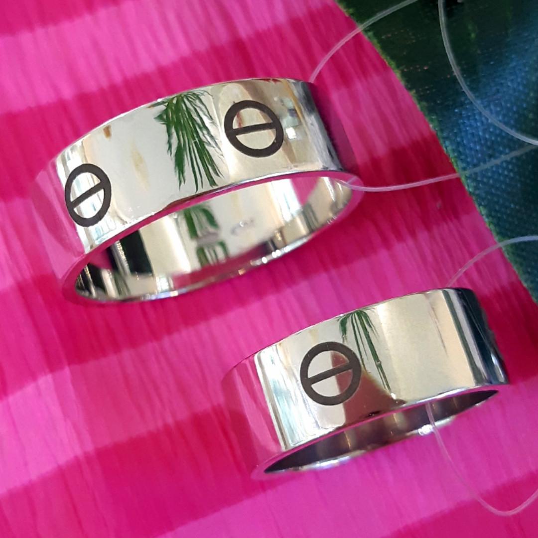 Серебряное брендовое кольцо - Стильное серебряное кольцо унисекс
