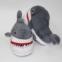 Мягкие тапочки кигуруми Акула Код 10-2505