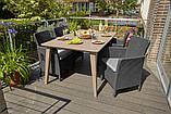 Набір садових меблів Lima Trenton Dining Set зі штучного ротанга ( Allibert by Keter ), фото 3