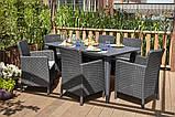 Набір садових меблів Lima Trenton Dining Set зі штучного ротанга ( Allibert by Keter ), фото 10