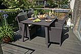 Набор садовой мебели Lima Trenton Dining Set из искусственного ротанга ( Allibert by Keter ), фото 8