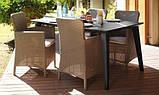 Набір садових меблів Lima Trenton Dining Set зі штучного ротанга ( Allibert by Keter ), фото 6
