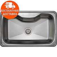 Кухонная мойка стальная Asil AS 65 Decor нержавеющая сталь
