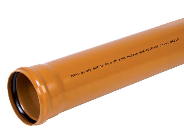 Труба канализационная для наружных работ 250/1000 фасадная SDR 41 SN4 Pestan Сербия