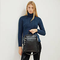 Рюкзак  женский кожаный черный, фото 1