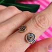 Срібне кільце-оберіг з молитвою Ангелу Хранителю - Кільце на великий палець Ангел Хранитель з позолотою, фото 6